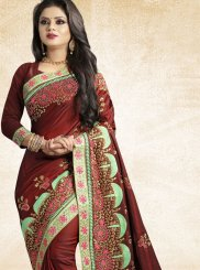 Art Silk Traditional Designer Saree in Maroon