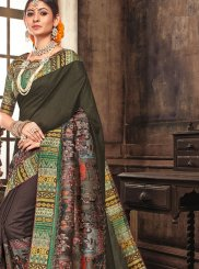 Art Silk Traditional Designer Saree in Multi Colour