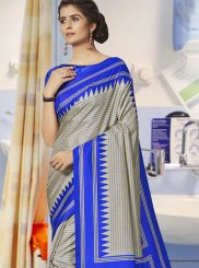 Art Silk Traditional Saree in Grey