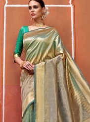 Art Silk Traditional Saree in Sea Green
