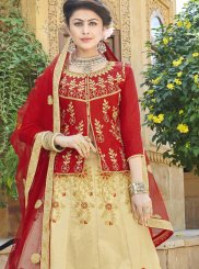 Art Silk Trendy Lehenga Choli in Beige