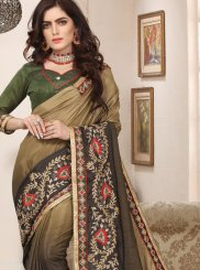 Art Silk Trendy Saree in Green