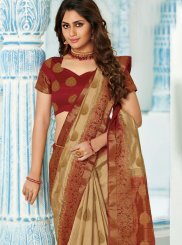Art Silk Weaving Beige Designer Traditional Saree
