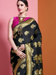 Art Silk Weaving Black Traditional Designer Saree