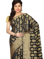 Art Silk Weaving Black Traditional Saree