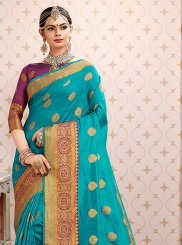 Art Silk Weaving Blue Designer Traditional Saree