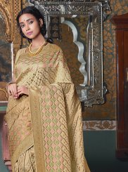 Art Silk Weaving Designer Traditional Saree in Cream