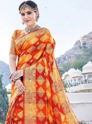 Art Silk Weaving Designer Traditional Saree in Multi Colour