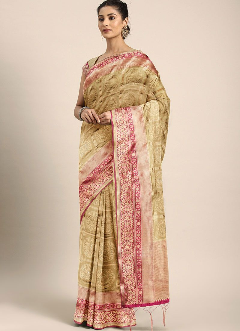 Art Silk Weaving Gold Traditional Designer Saree