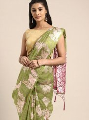 Art Silk Weaving Green Traditional Designer Saree