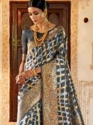 Art Silk Weaving Grey Traditional Designer Saree