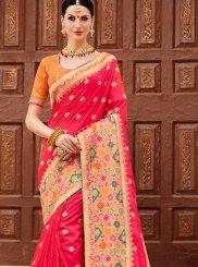Art Silk Weaving Hot Pink Designer Traditional Saree
