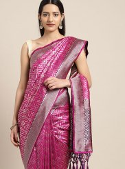 Art Silk Weaving Magenta Designer Traditional Saree