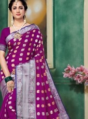 Art Silk Weaving Magenta Traditional Designer Saree