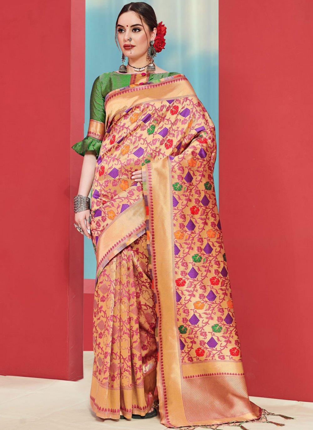 Art Silk Weaving Multi Colour Casual Saree