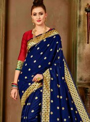 Art Silk Weaving Navy Blue Designer Traditional Saree