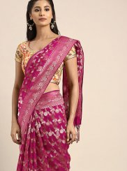 Art Silk Weaving Pink Traditional Saree