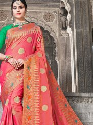 Art Silk Weaving Rose Pink Traditional Designer Saree