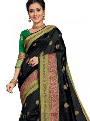 Art Silk Weaving Traditional Designer Saree in Black