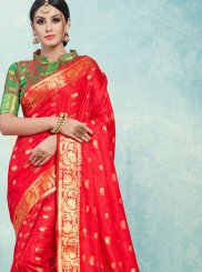 Art Silk Weaving Traditional Designer Saree in Red