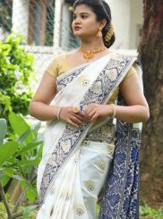 Art Silk Weaving White Traditional Designer Saree