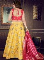 Art Silk Weaving Yellow Readymade Lehenga Choli