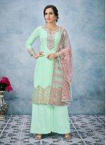 Art Silk Wedding Designer Pakistani Suit