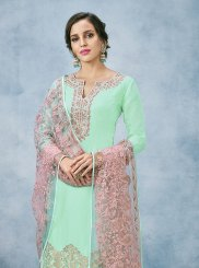 Art Silk Wedding Designer Pakistani Suit