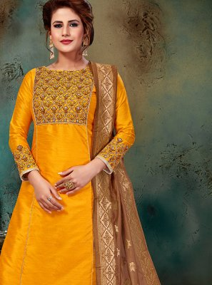 Art Silk Wedding Designer Suit
