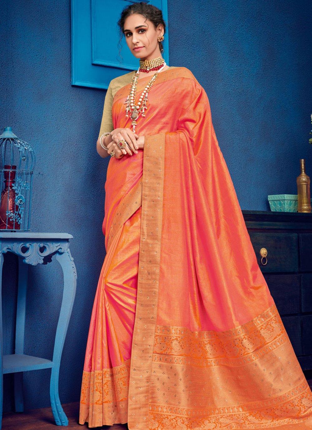 Art Silk Wedding Traditional Saree