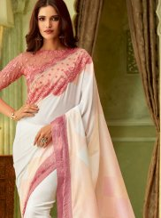 Art Silk White Classic Saree