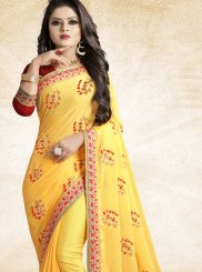 Art Silk Yellow Traditional Saree