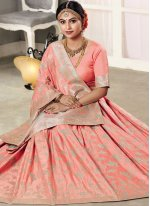 Art Silk Zari Classic Saree in Pink