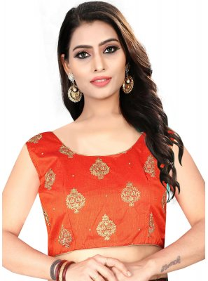 Attractive Orange Color Readymade Blouse