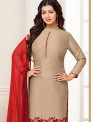 Ayesha Takia Beautiful Beige Designer Straight Suit