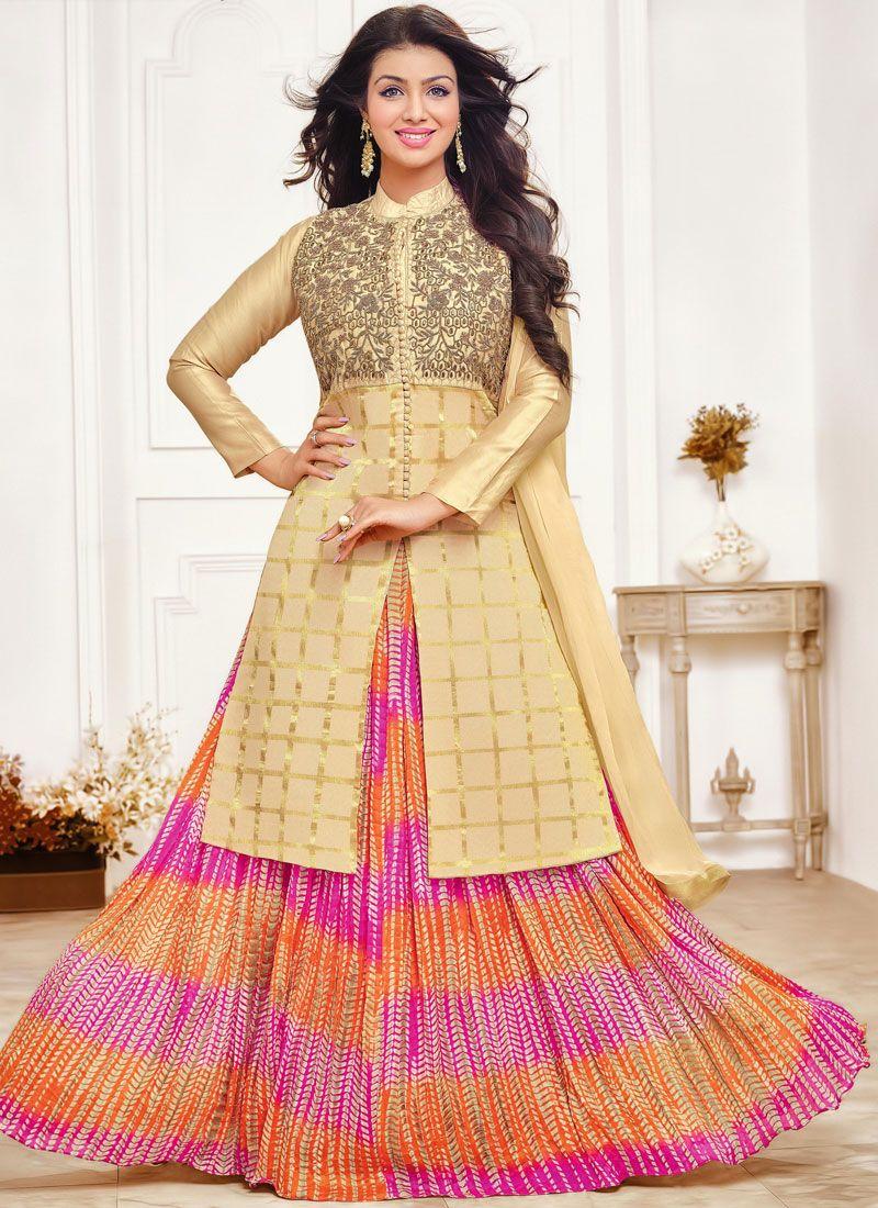 Ayesha Takia Embroidered Floor Length Anarkali Suit