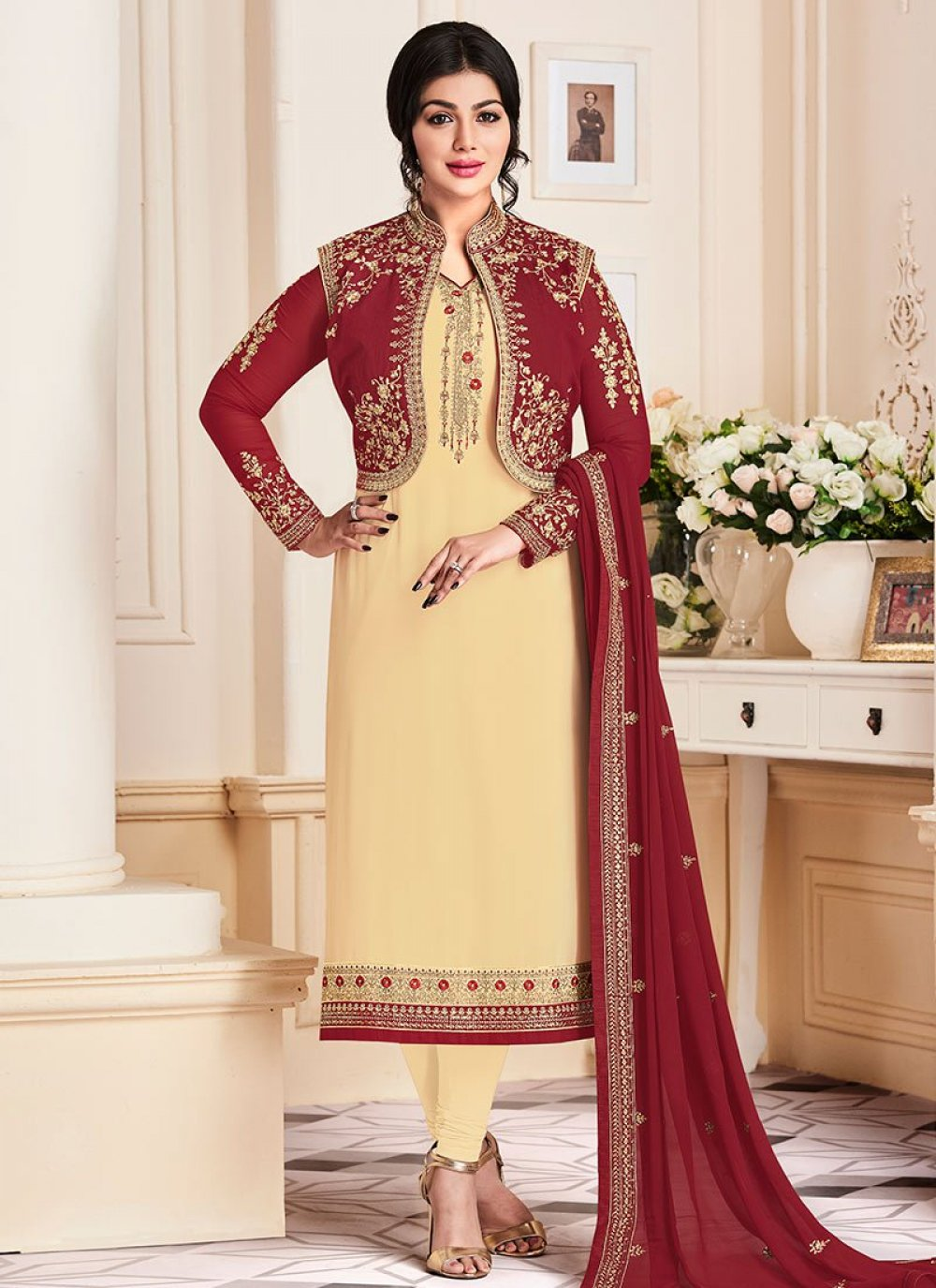 Ayesha Takia Faux Georgette Jacket Style Suit