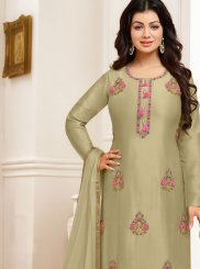 Ayesha Takia Green Festival Designer Straight Suit