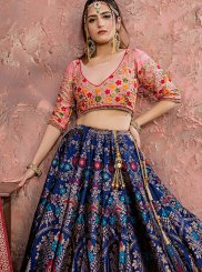 Banarasi Silk Blue Dori Work Designer Lehenga Choli