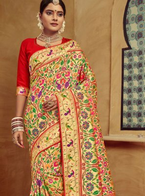Banarasi Silk Bridal Designer Traditional Saree