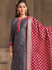 Banarasi Silk Ceremonial Churidar Salwar Suit