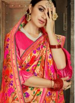 Banarasi Silk Classic Designer Saree in Pink