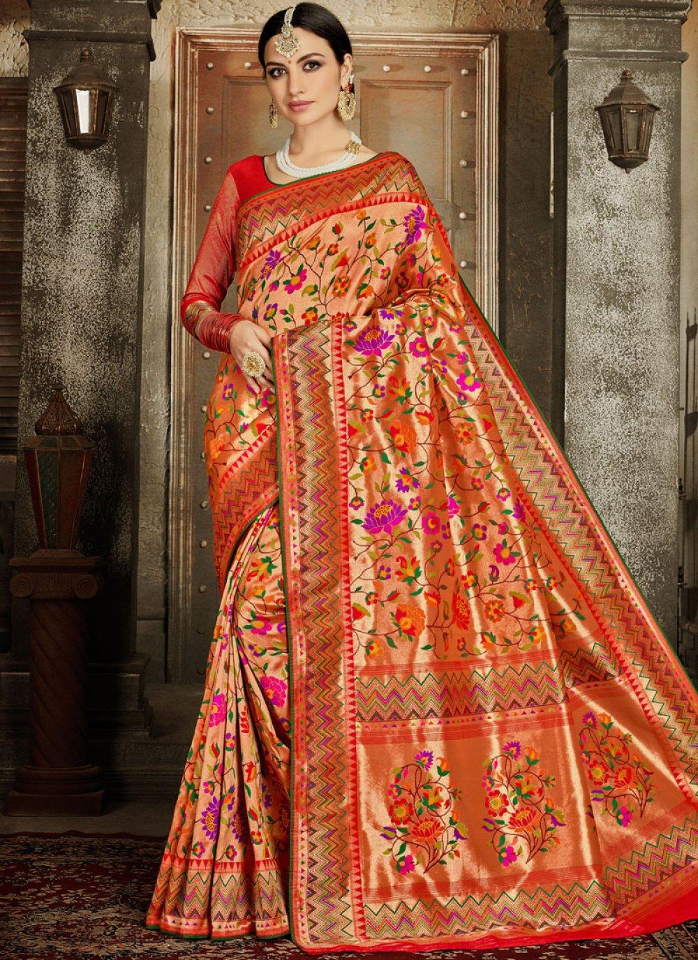 Banarasi Silk Embroidered Silk Saree