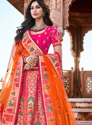 Banarasi Silk Embroidered Trendy A Line Lehenga Choli