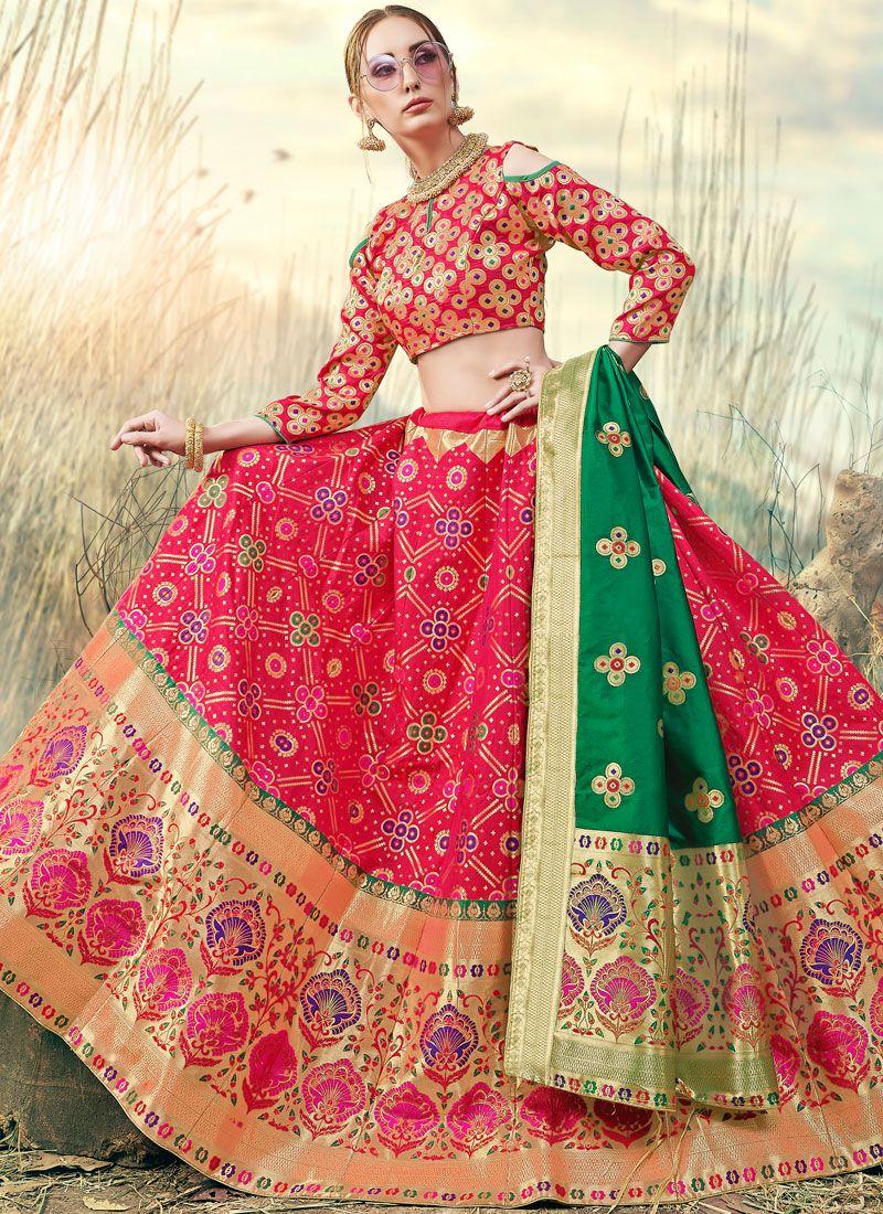 Banarasi Silk Festival A Line Lehenga Choli