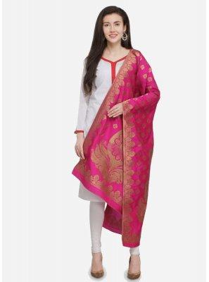 Banarasi Silk Pink Designer Dupatta