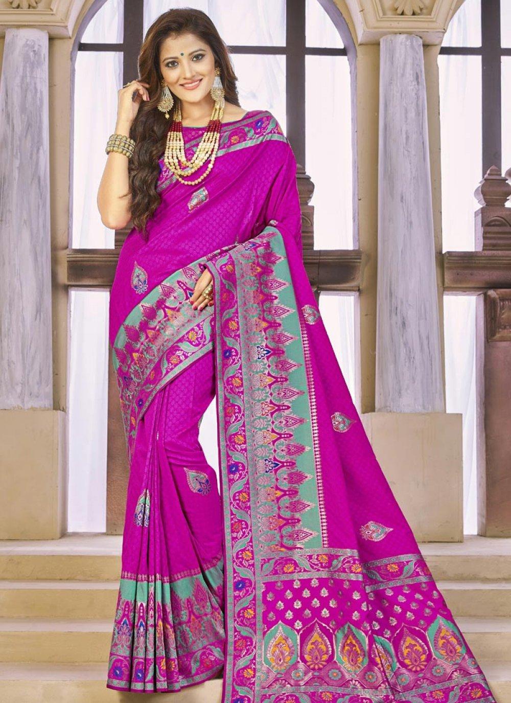 Banarasi Silk Rani Traditional  Saree