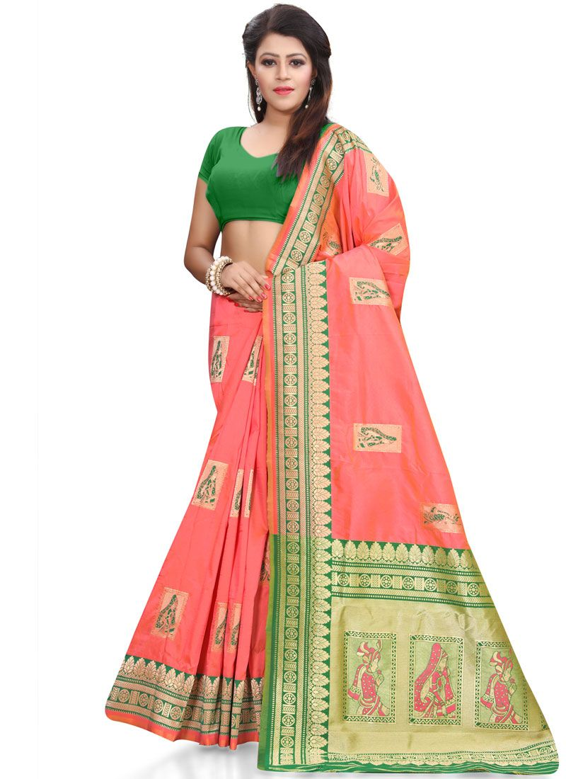 Banarasi Silk Resham Work Silk Saree
