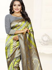 Banarasi Silk Sea Green Weaving Silk Saree