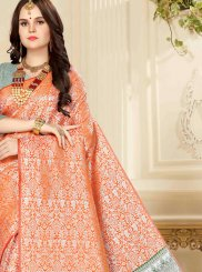 Banarasi Silk Traditional Saree in Orange
